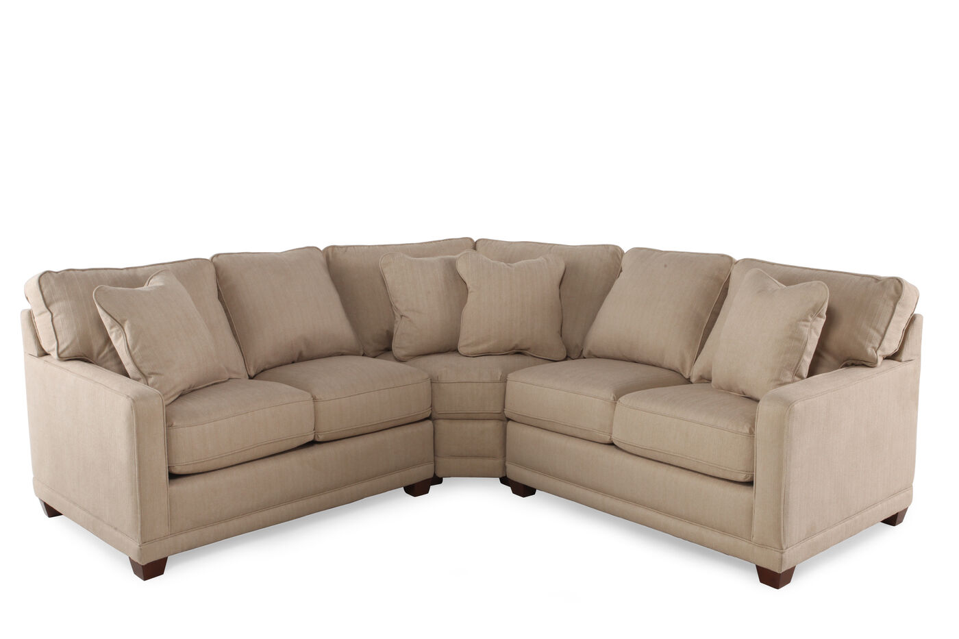 La z boy kennedy toast three piece sectional mathis for La z boy sectional sofa bed
