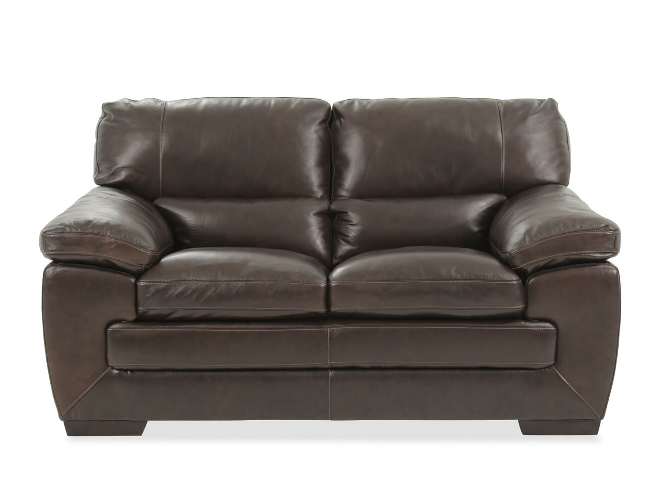 Simon Li Leather Longhorn Black Oak Loveseat Mathis Brothers Furniture