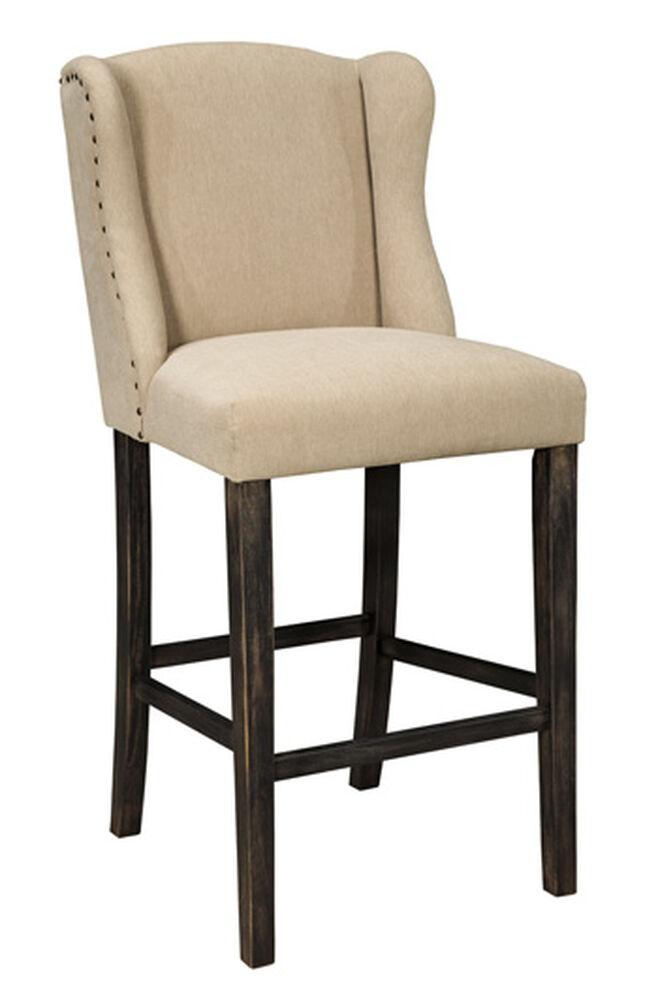 Ashley Moriann Light Beige Tall Upholstered Bar Stool