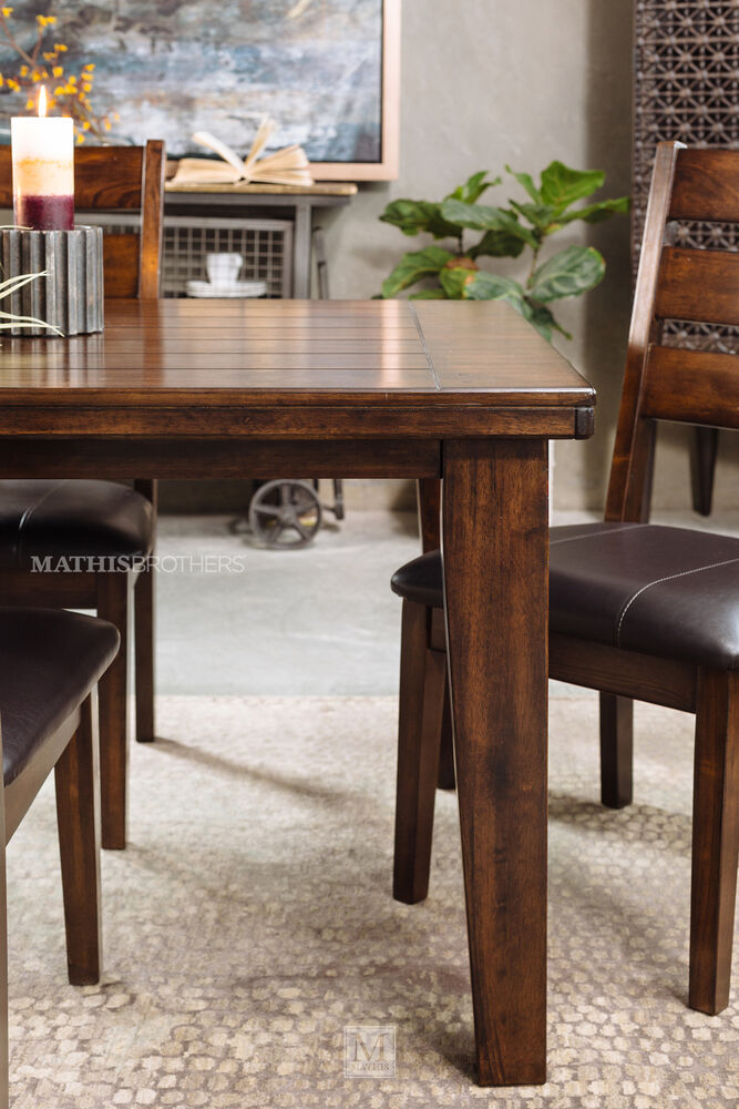 Ashley larchmont five piece dining set mathis brothers furniture for Ashley furniture 5 piece living room set