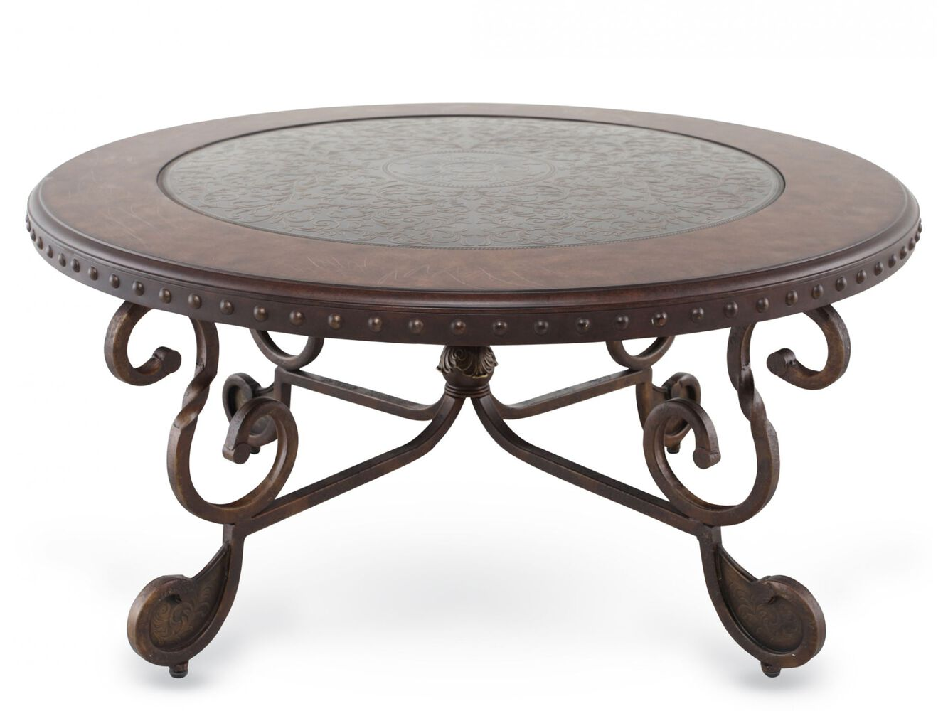 Round cocktail table ashley mathis brothers for Cocktail tables and coffee tables