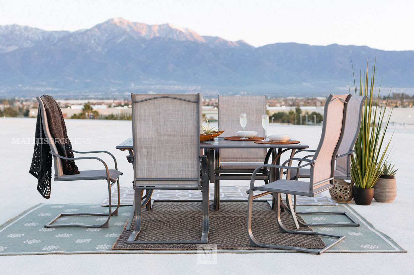 World Source Paulinus Patio Dining Set Mathis Brothers