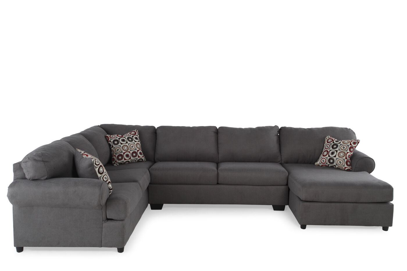 Ashley jayceon three piece sectional mathis brothers for Sectional furniture