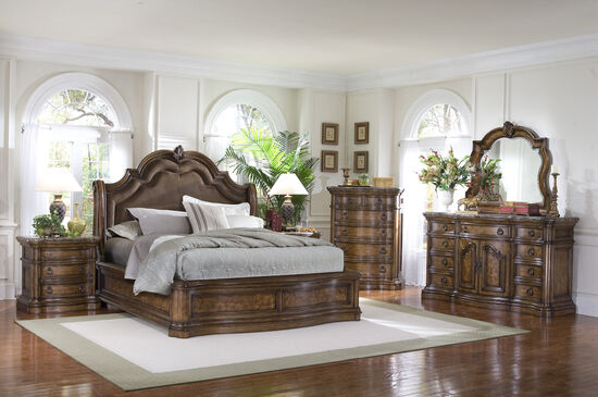 Pulaski San Mateo Sleigh Bed Mathis Brothers Furniture