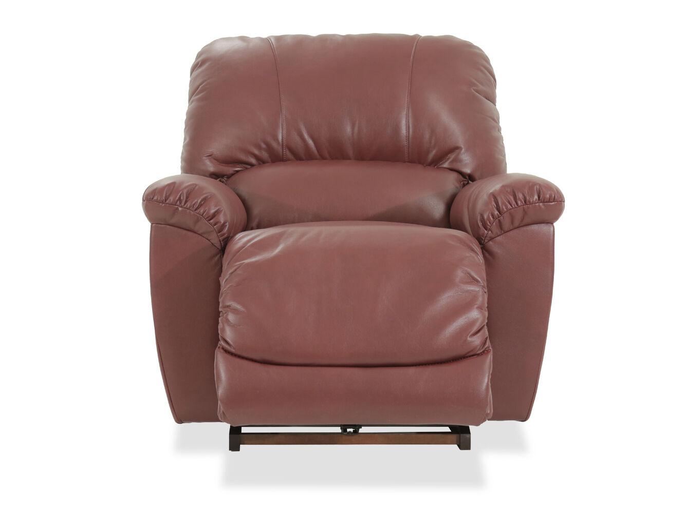 La Z Boy Tyler Red Rocker Recliner Mathis Brothers Furniture