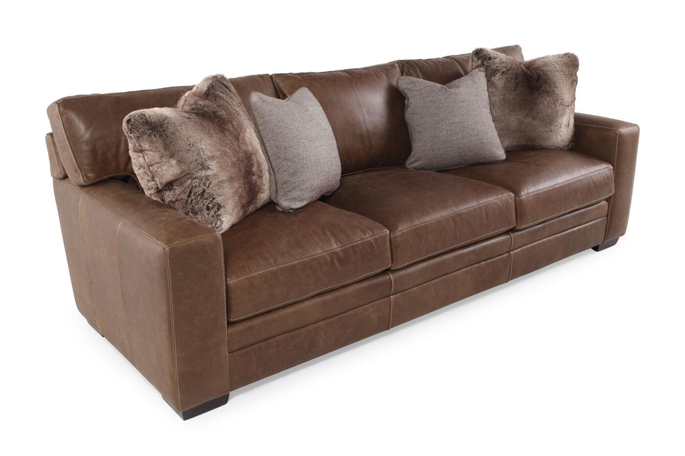 Bernhardt Tolbert Leather Sofa   Mathis Brothers Furniture