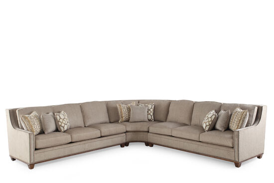 Art furniture bridgewater sectional mathis brothers for Sectional sofa mathis brothers