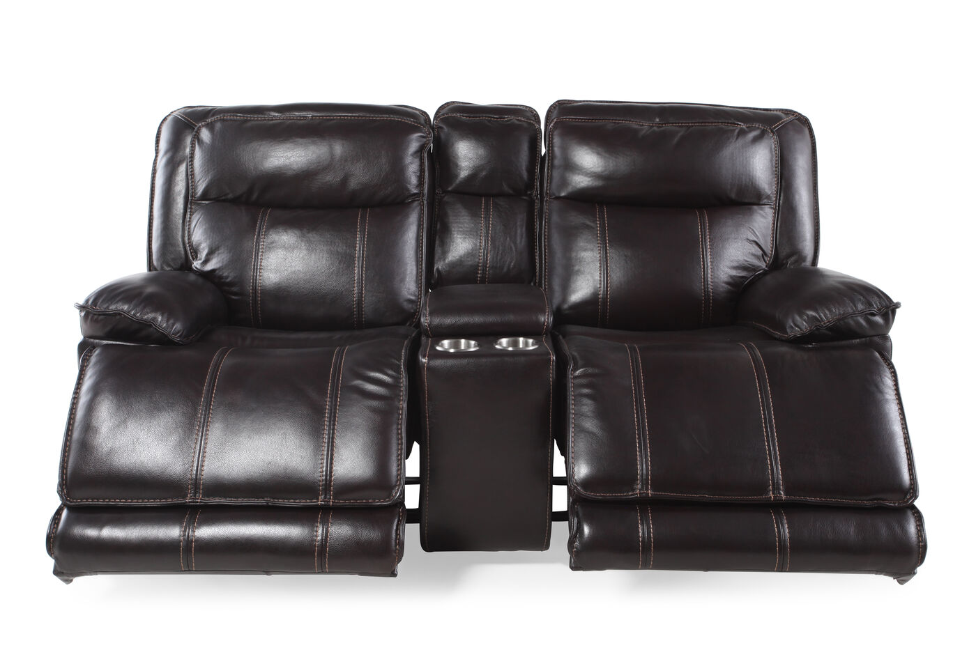 Boulevard Coffee Glider Reclining Loveseat Mathis