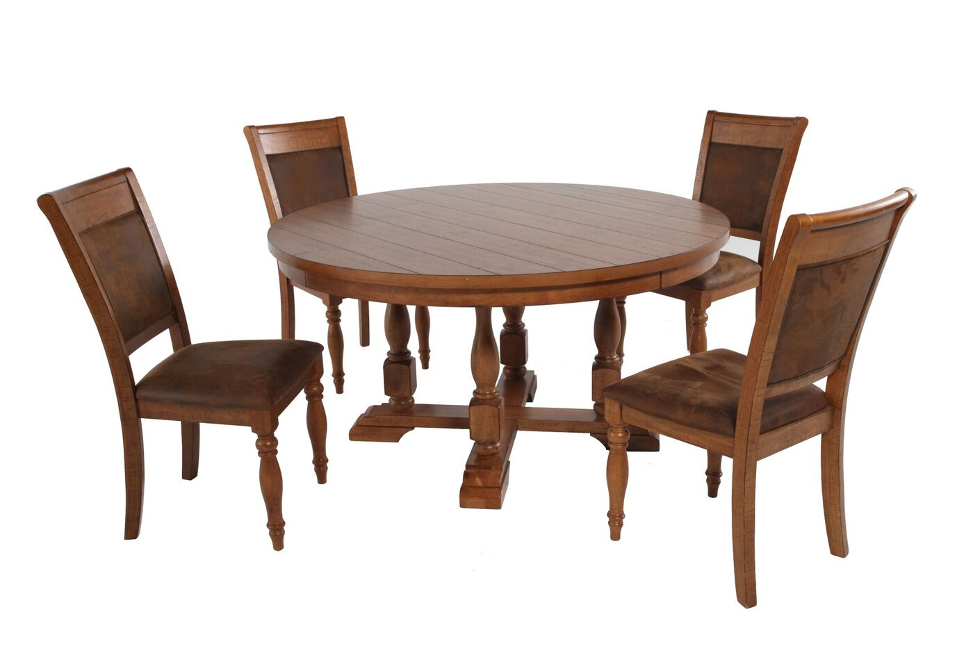 Winners Only Grand Estates Round Five Piece Dining Set Mathis Brothers Furn