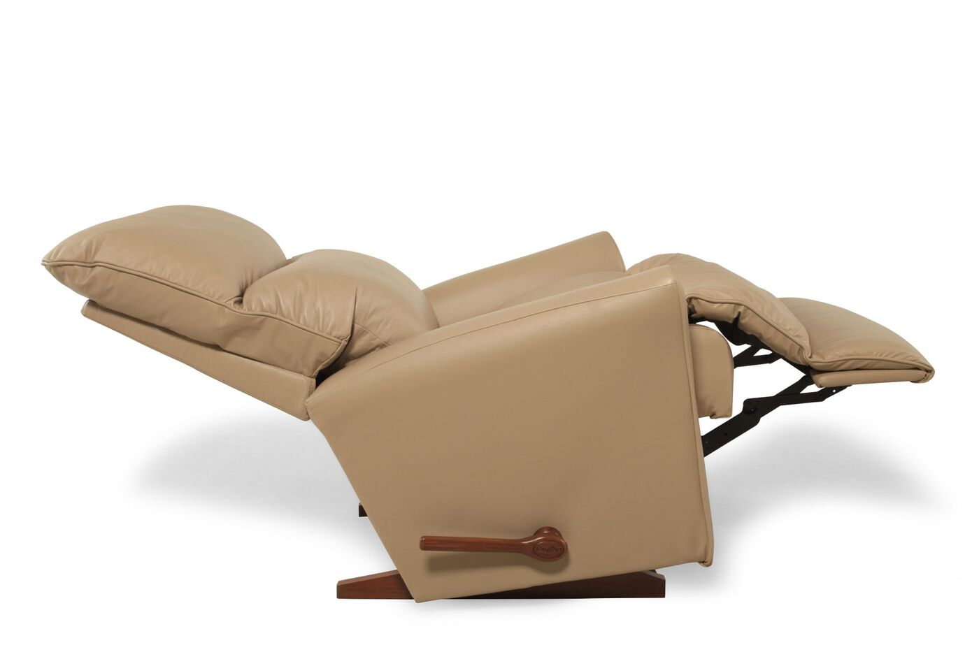 La Z Boy Rowan Natural Leather Recliner Mathis Brothers