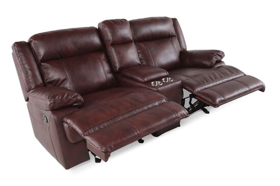 Boulevard Glider Reclining Loveseat With Console Mathis Brothers Furniture