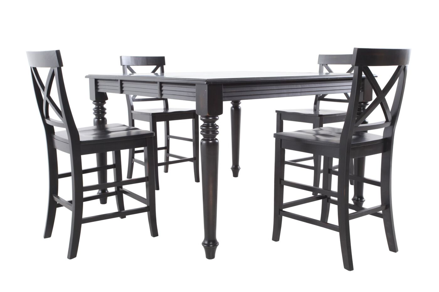 MB Home Rubbed Black Five Piece Pub Set Mathis Brothers Furniture