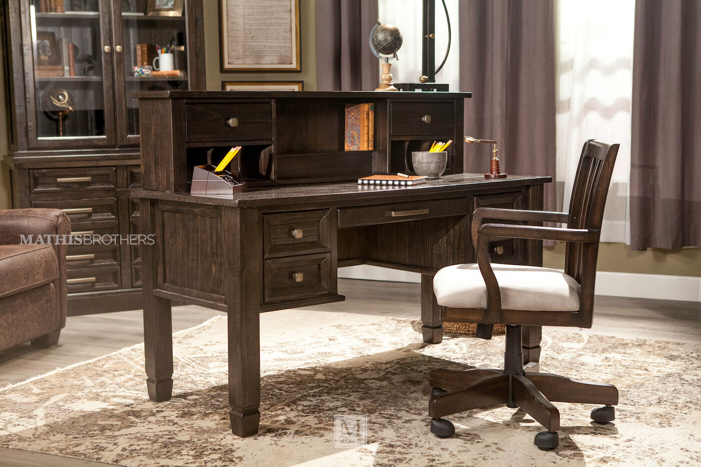 Ashley Townser Home Office Desk Hutch Mathis Brothers