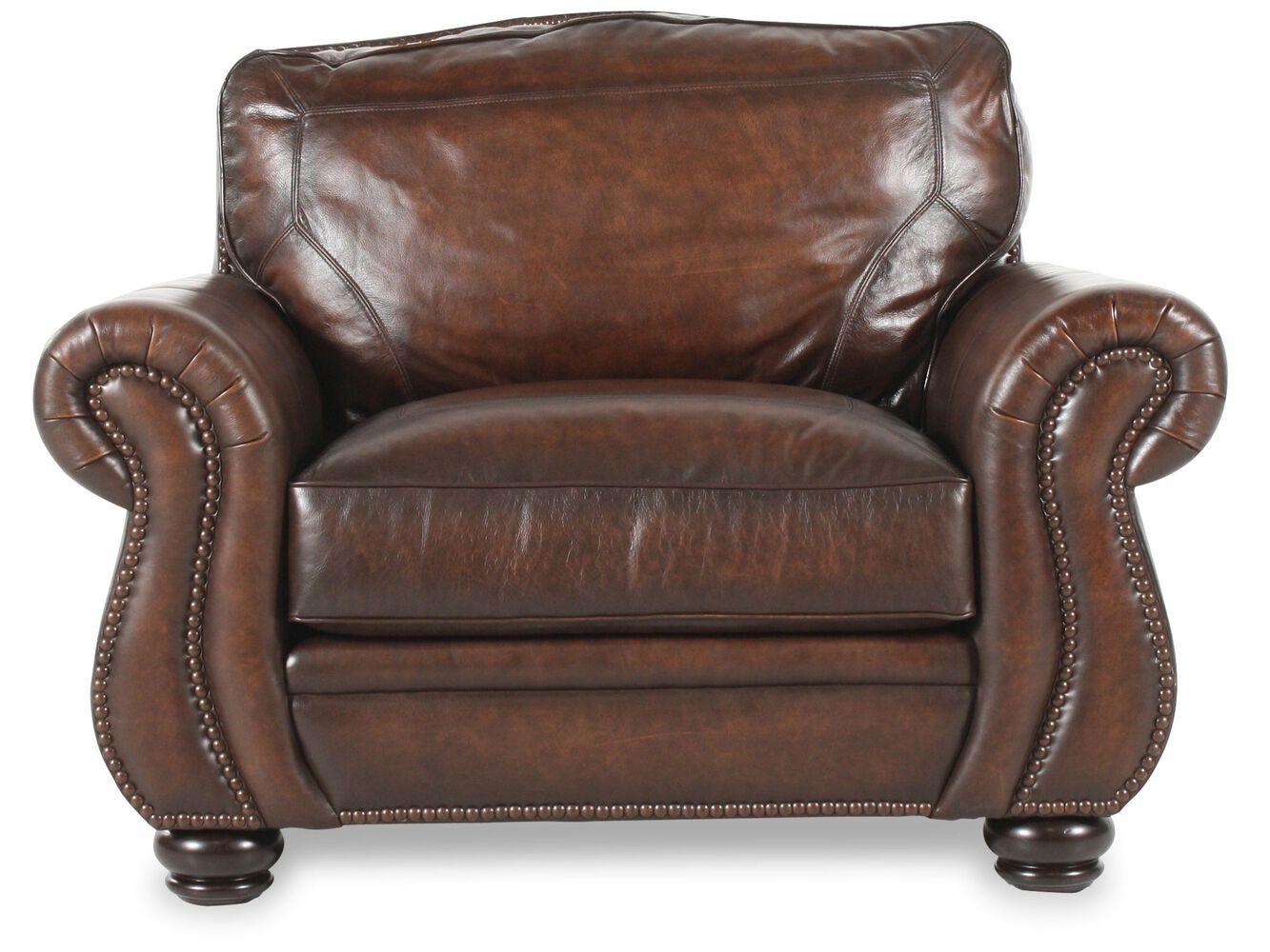 Bernhardt Breckenridge Leather Chair | Mathis Brothers Furniture