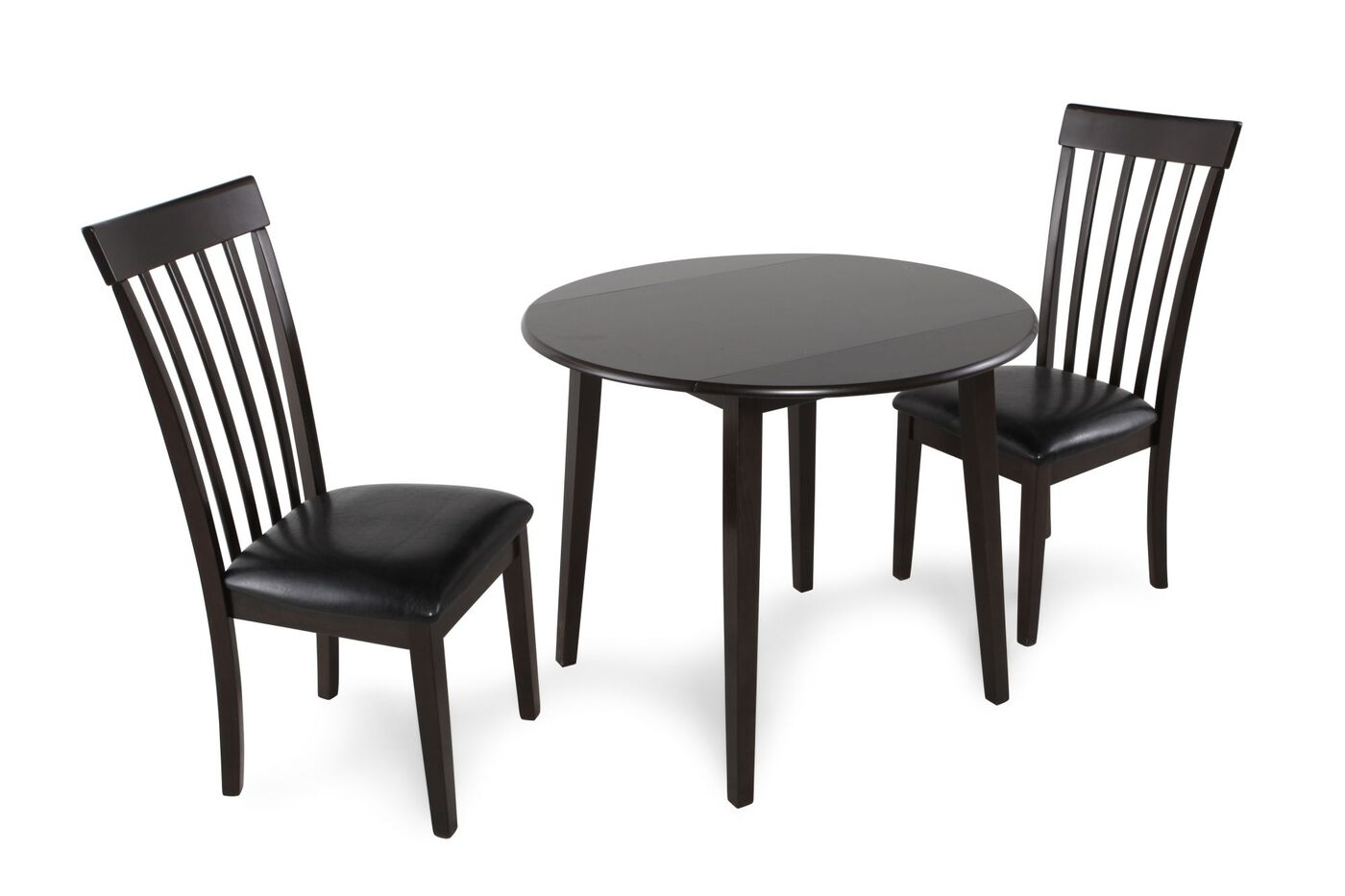 Ashley hammis three piece dining set mathis brothers for Dining room 3 piece set