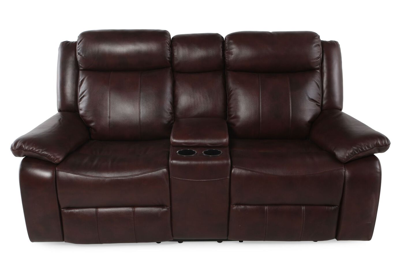 Boulevard Power Reclining Loveseat With Console Mathis Brothers Furniture