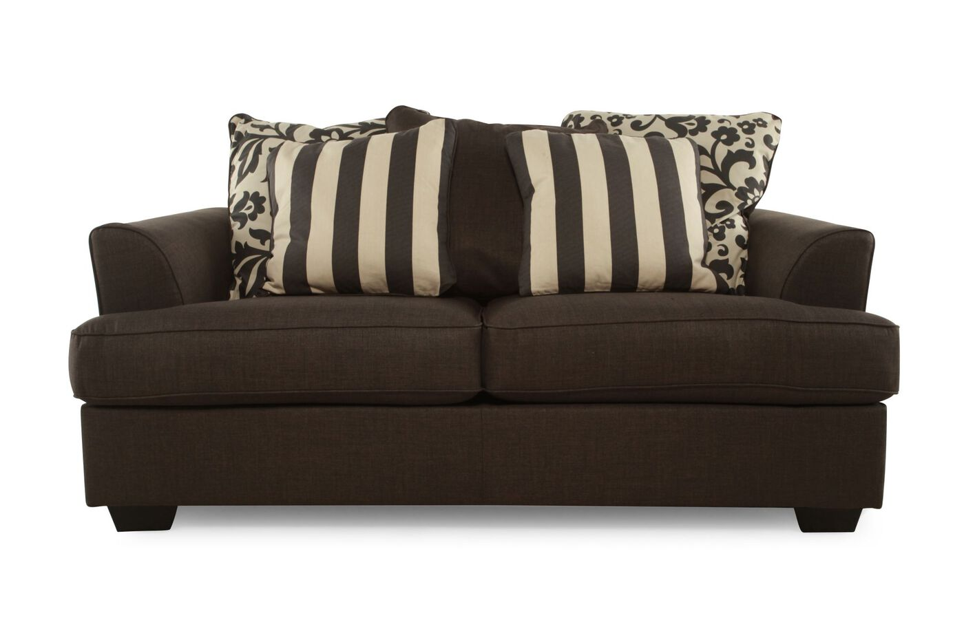 Ashley levon charcoal loveseat mathis brothers furniture Ashley couch and loveseat