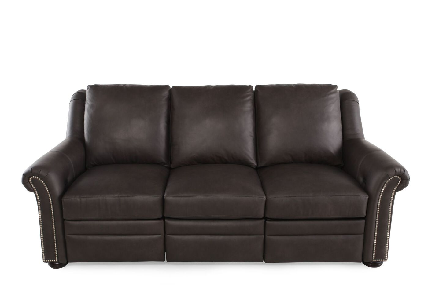 Bradington young luxury motion newman reclining sofa mathis brothers furniture - Sofa reclinable ...