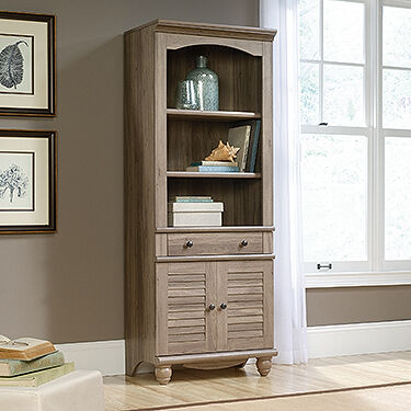 ... MB Home H&shire Salt Oak Library with Doors ... & MB Home Hampshire Salt Oak Library with Doors | Mathis Brothers ... Pezcame.Com