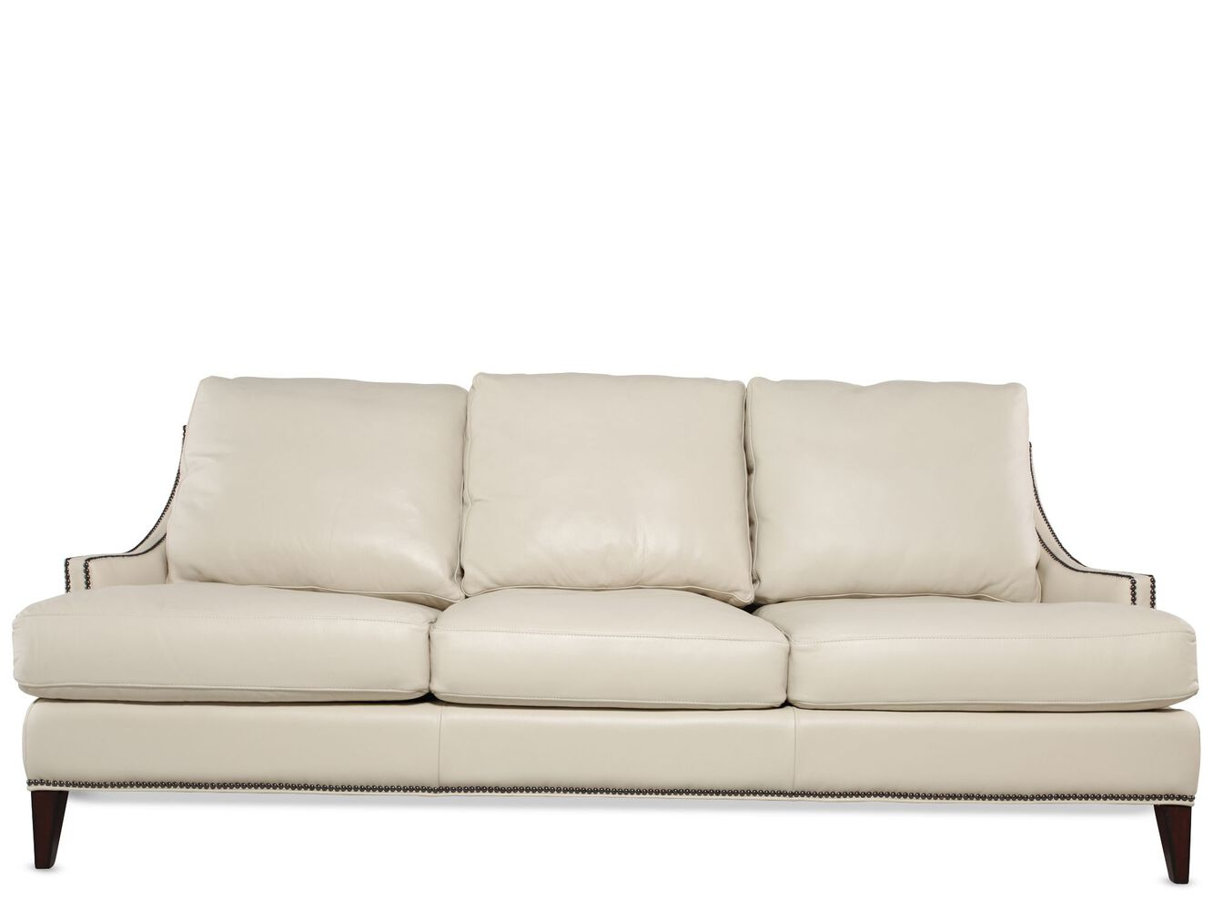 Henredon White Leather Sofa Mathis Brothers Furniture