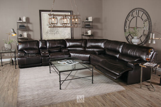 Simon li leather longhorn blackberry sofa mathis for Mathis brothers living room furniture sectional sofas