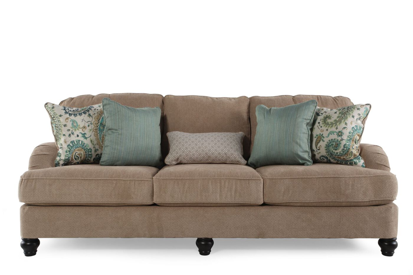 Ashley lochian bisque sofa mathis brothers furniture for Mathis brothers living room furniture sectional sofas