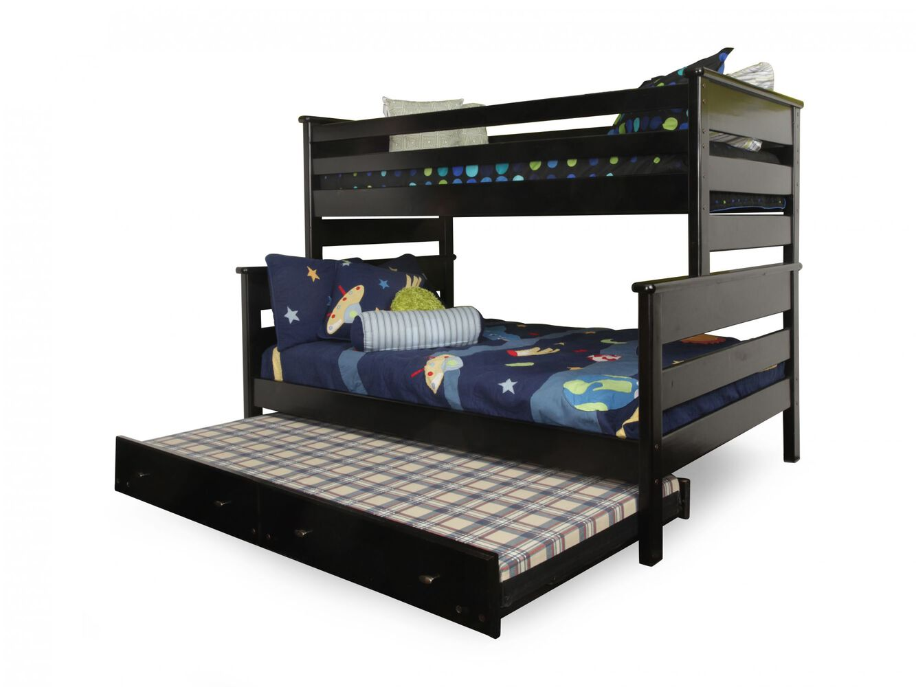 Trendwood Laguna Black Cherry Twin Over Full Bunk Bed With