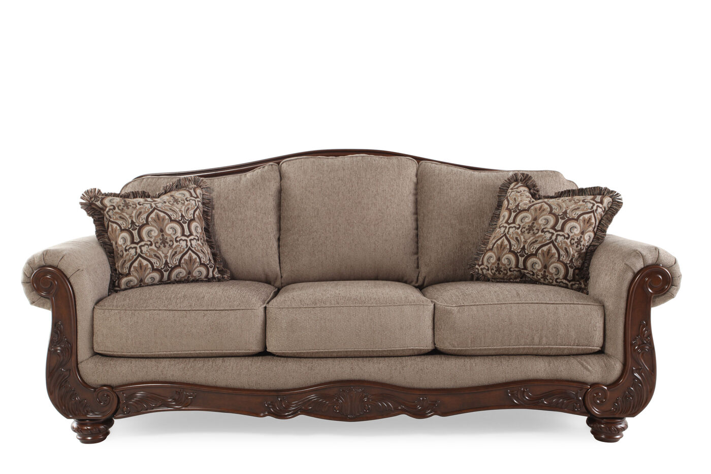 Ashley cecilyn cocoa sofa mathis brothers furniture Sofa loveseat