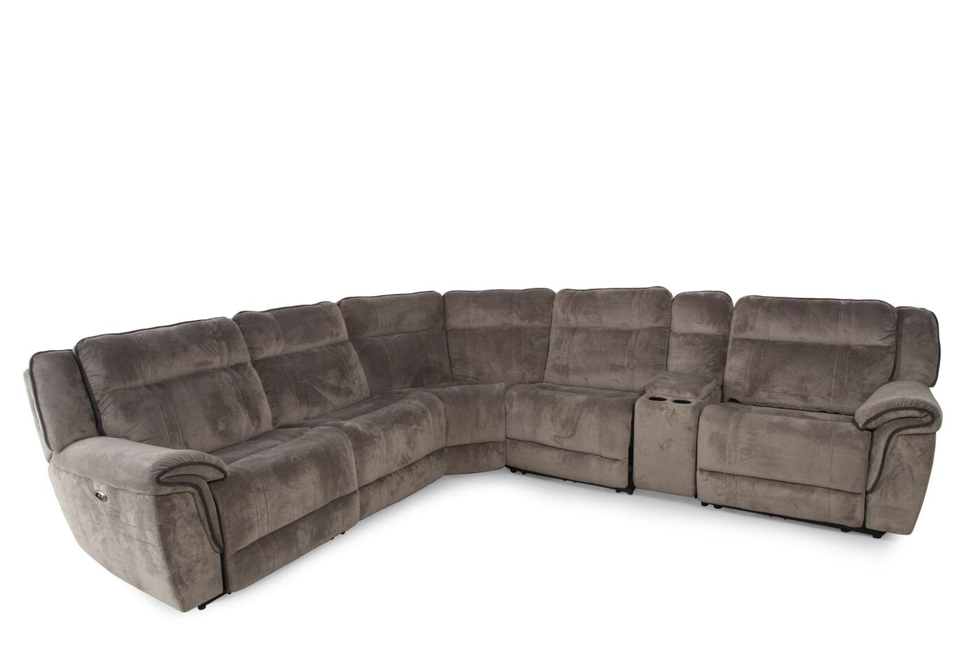 Boulevard Gray Six Piece Power Sectional. Boulevard Gray Six Piece Power Sectional   Mathis Brothers Furniture