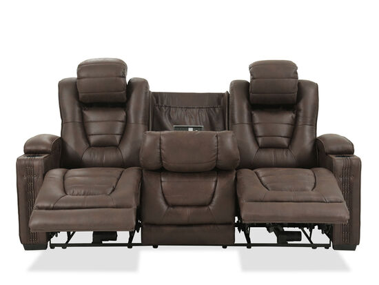 Prime Resources Big Chief Brown Power Reclining Sofa
