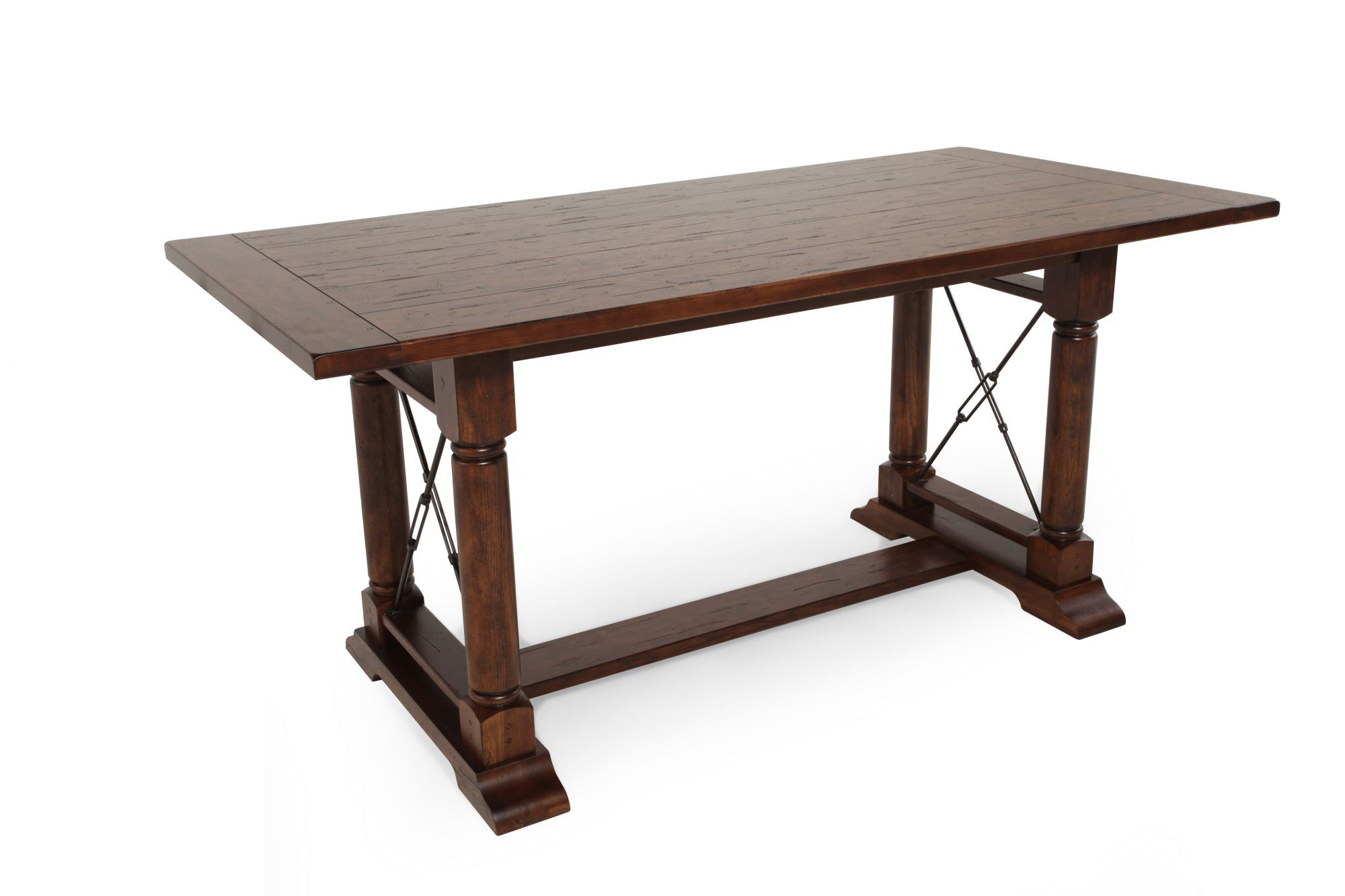 Heirlooms Rustic Oak Counter Height Table Mathis Brothers Furniture. Full  Resolution Pic, Nominally