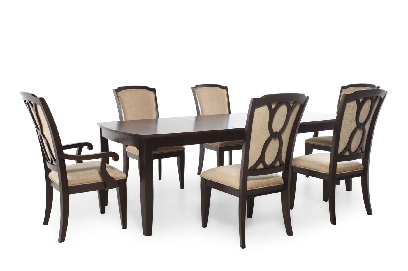 Legacy sophia seven piece dining set mathis brothers for 2 piece dining room set