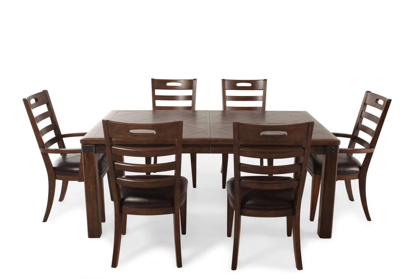 pulaski heartland falls seven piece dining set : seven piece dining set