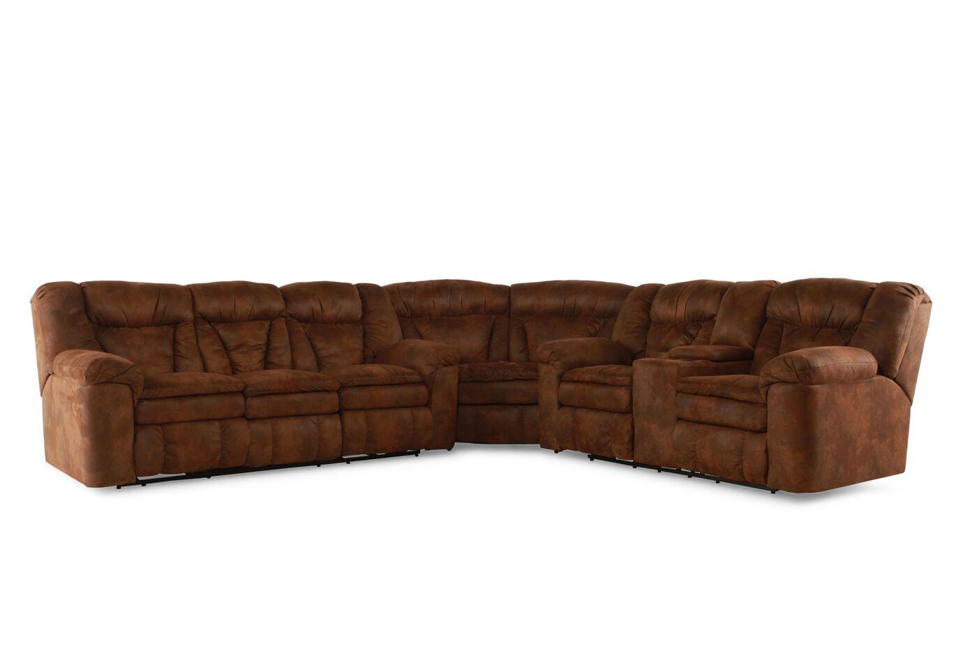 Lane Talon Coffee Three Piece Sectional Mathis Brothers Furniture