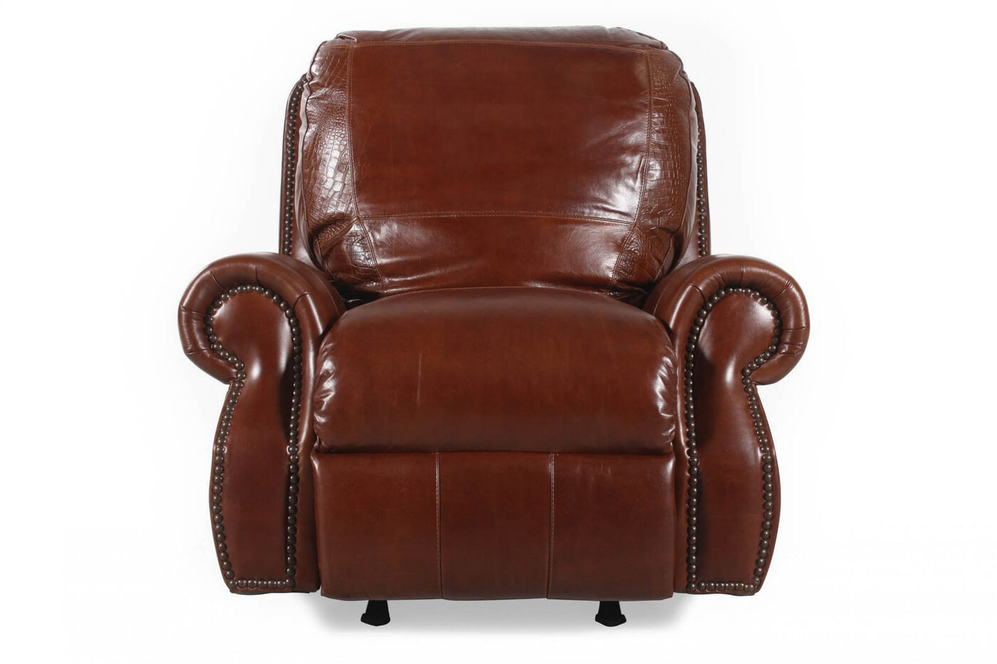 Usa Leather Brandy Rocker Recliner Mathis Brothers Furniture