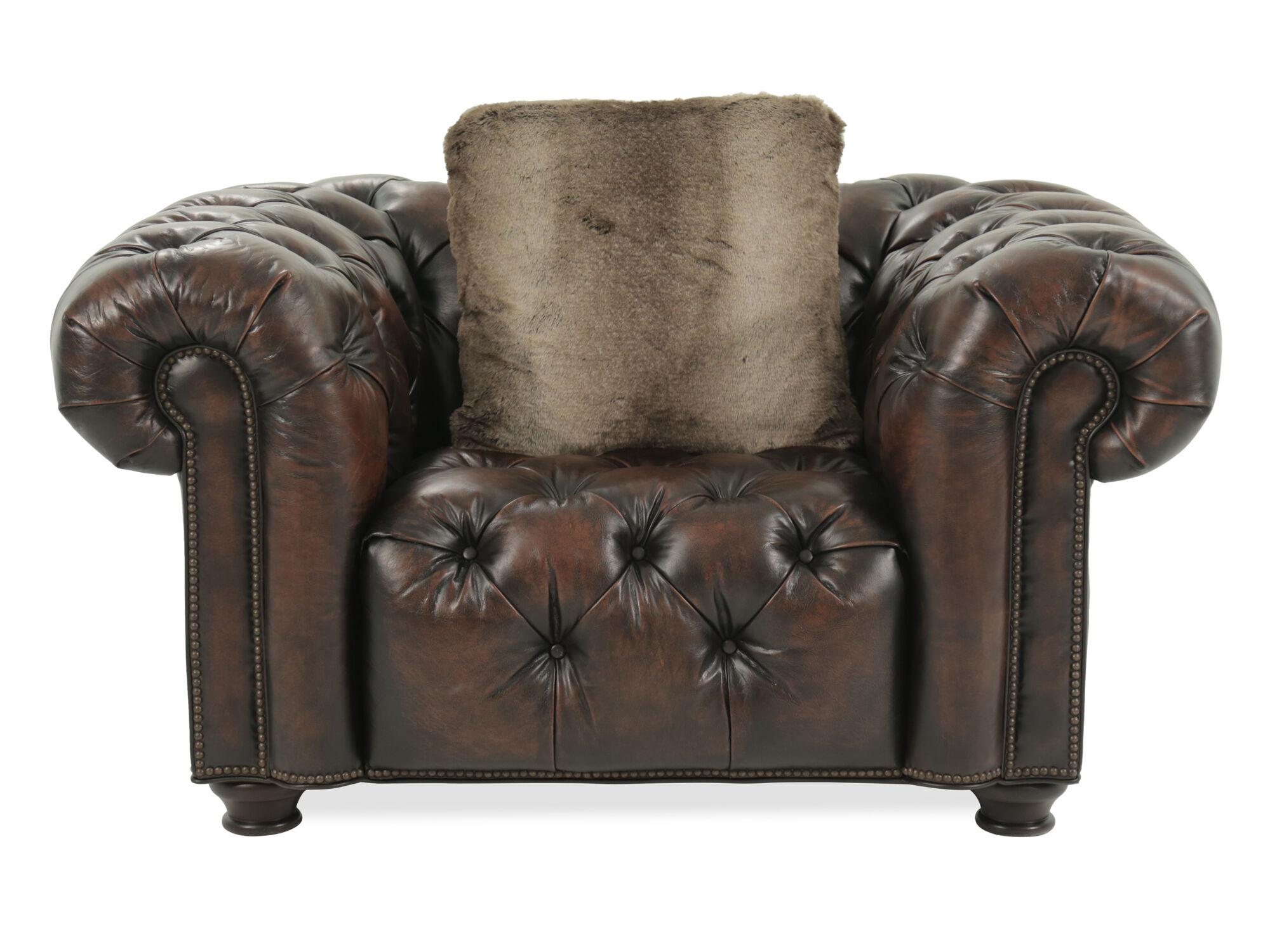 Bernhardt Wellington Leather Tobacco Chair - ...