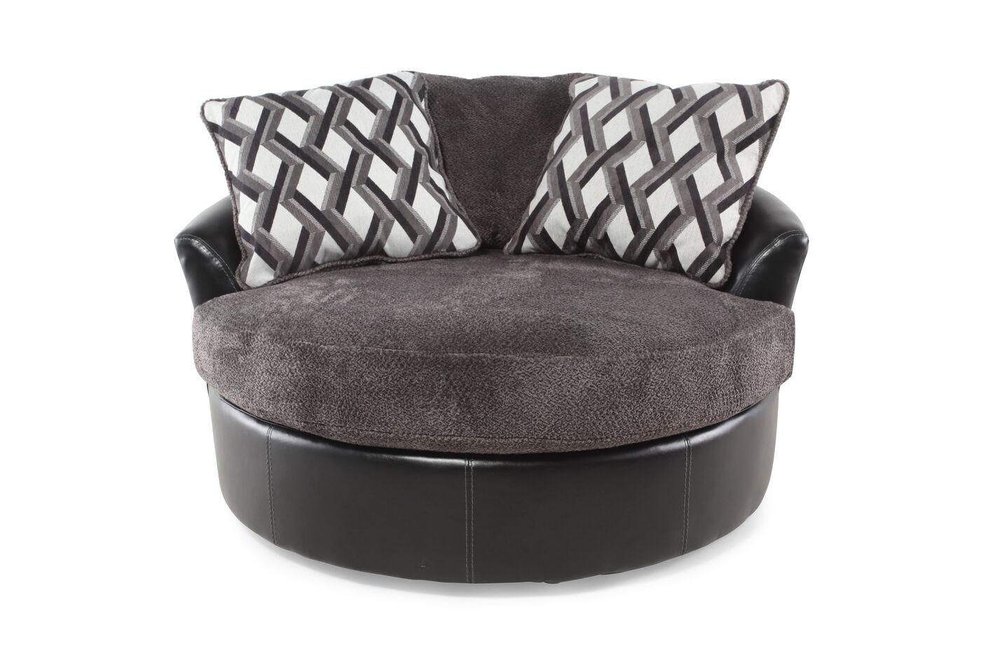Ashley oversized swivel accent chair - Ashley Kumasi Smoke Oversized Swivel Accent Chair
