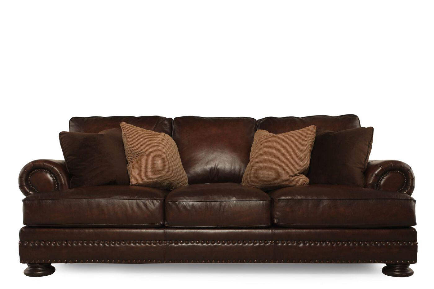 Bernhardt Foster Leather Sofa