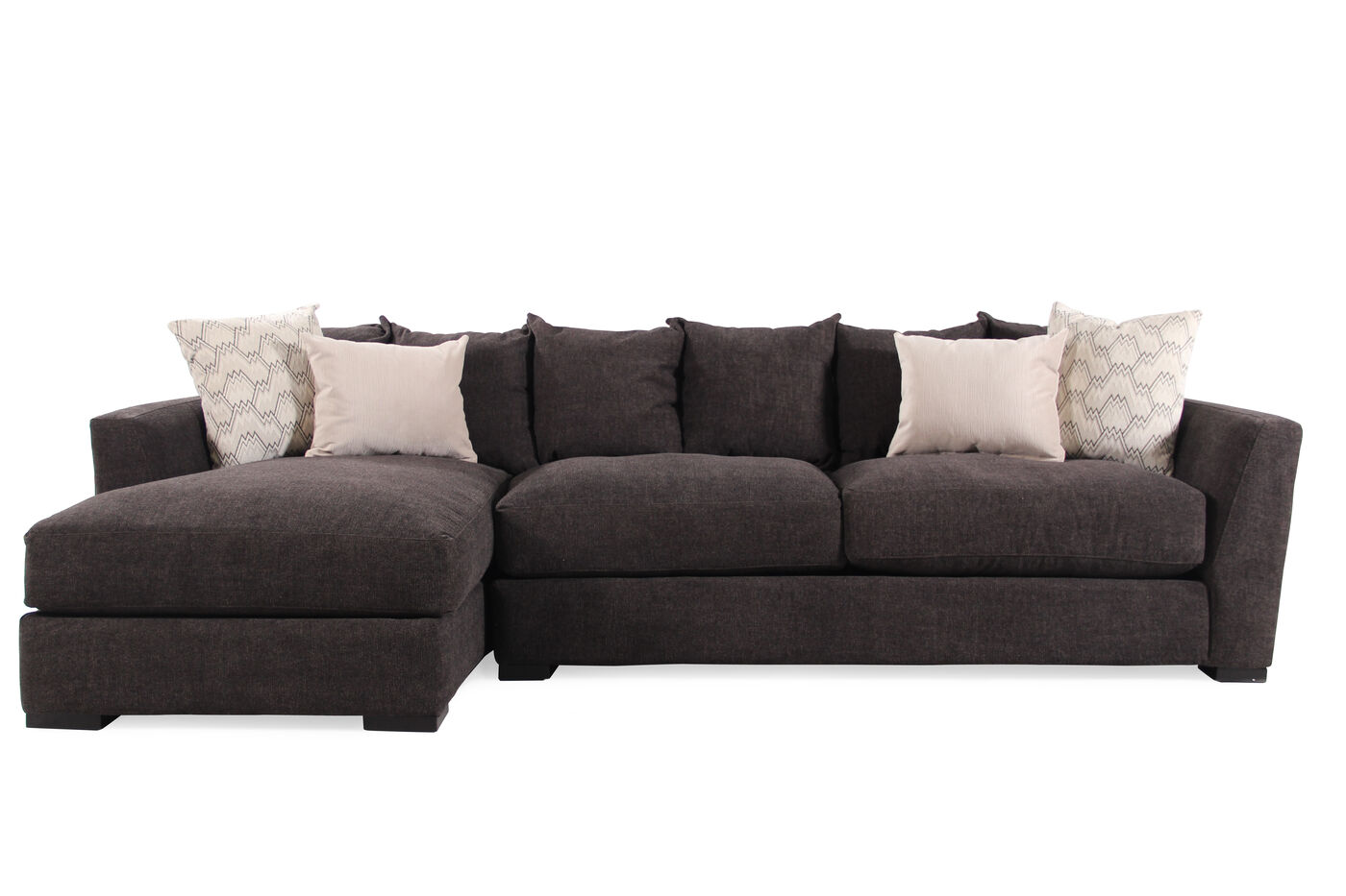Two Piece Living Room Set Jonathan Louis Harvey Two Piece Sectional Mathis Brothers Furniture