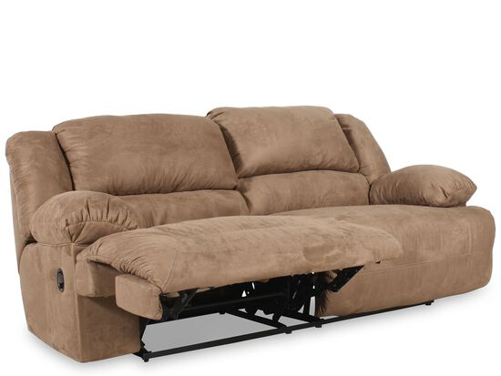 ashley hogan mocha two seat reclining sofa mathis brothers furniture. Black Bedroom Furniture Sets. Home Design Ideas