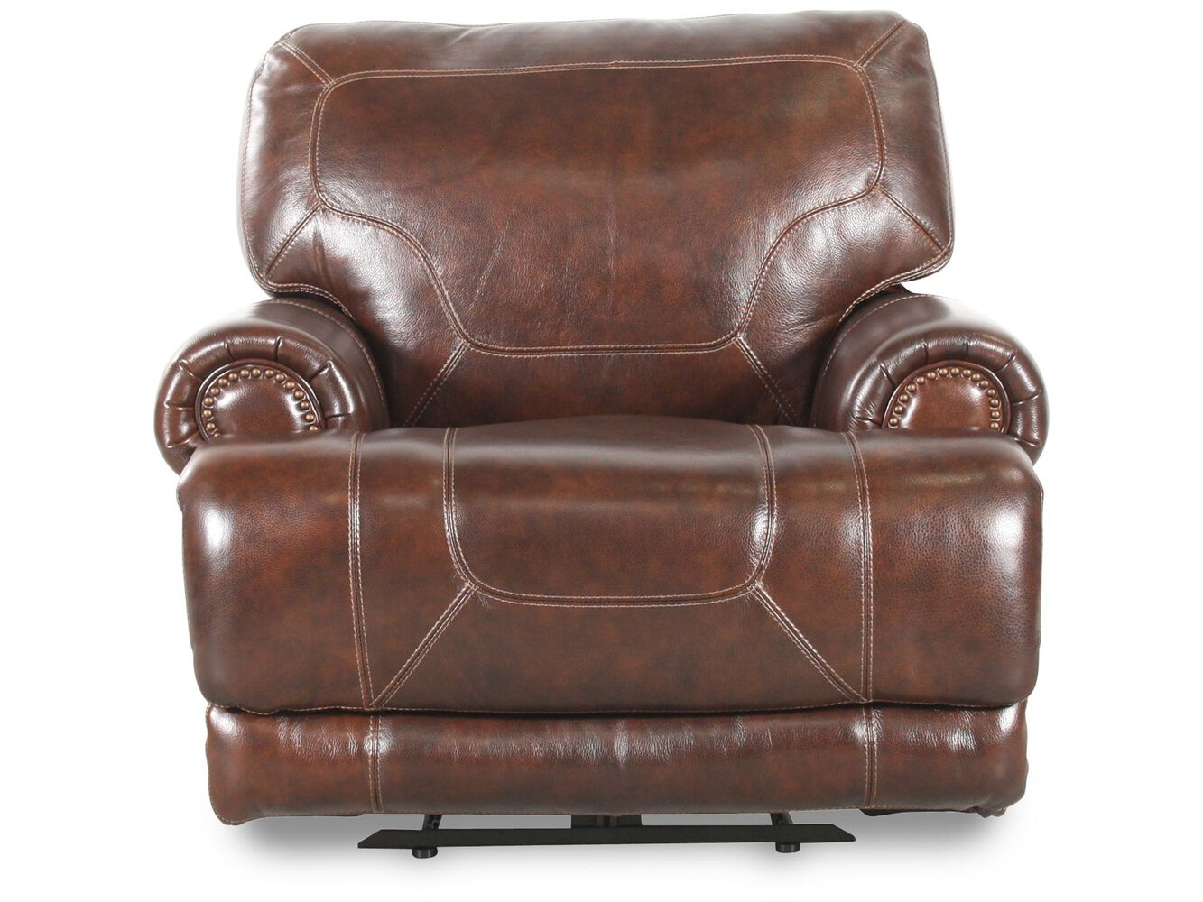 Simon Li Leather Stampede Coffee Recliner Mathis