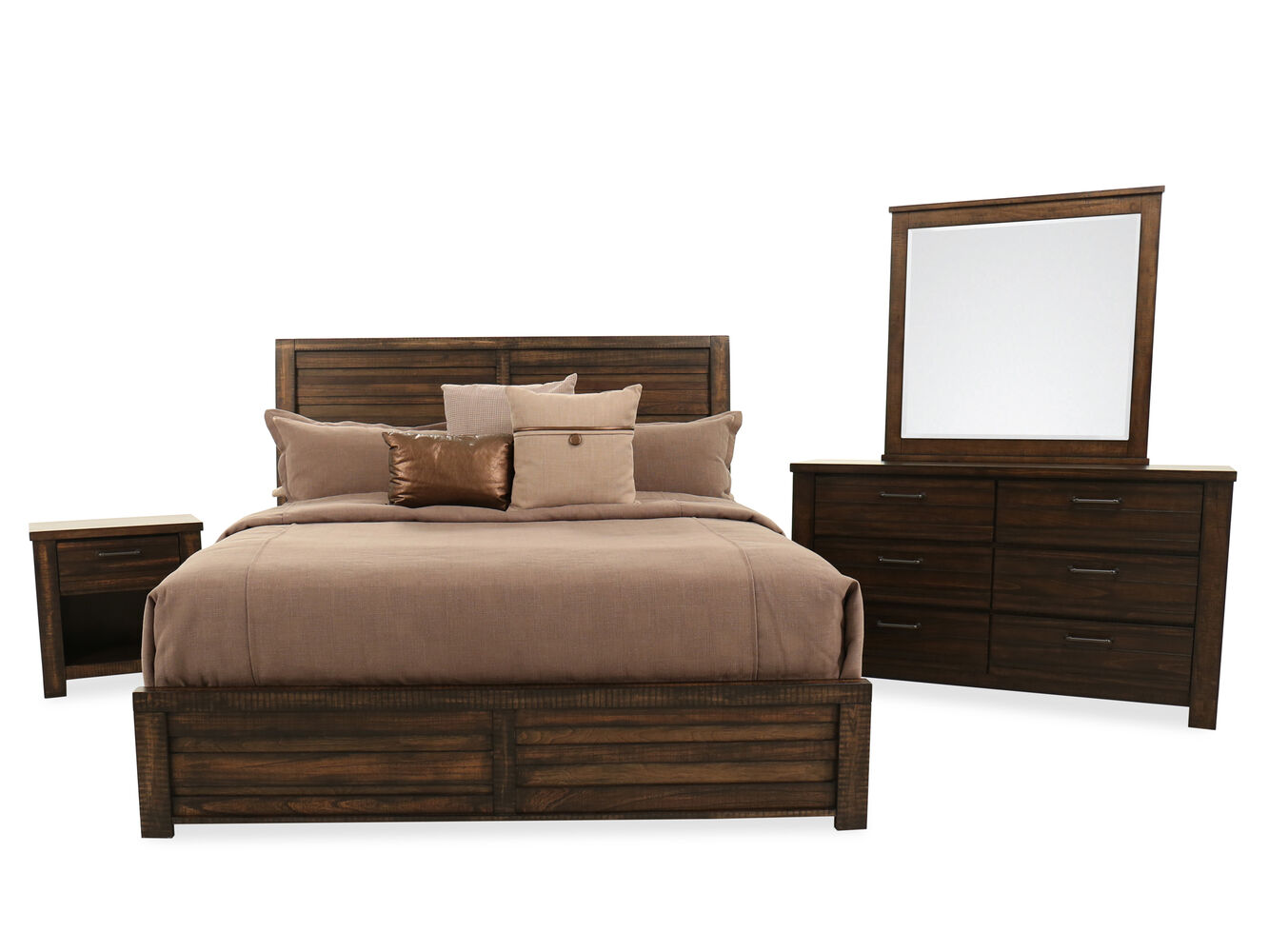 Samuel Lawrence Ruff Hewn Bedroom Suite | Mathis Brothers Furniture