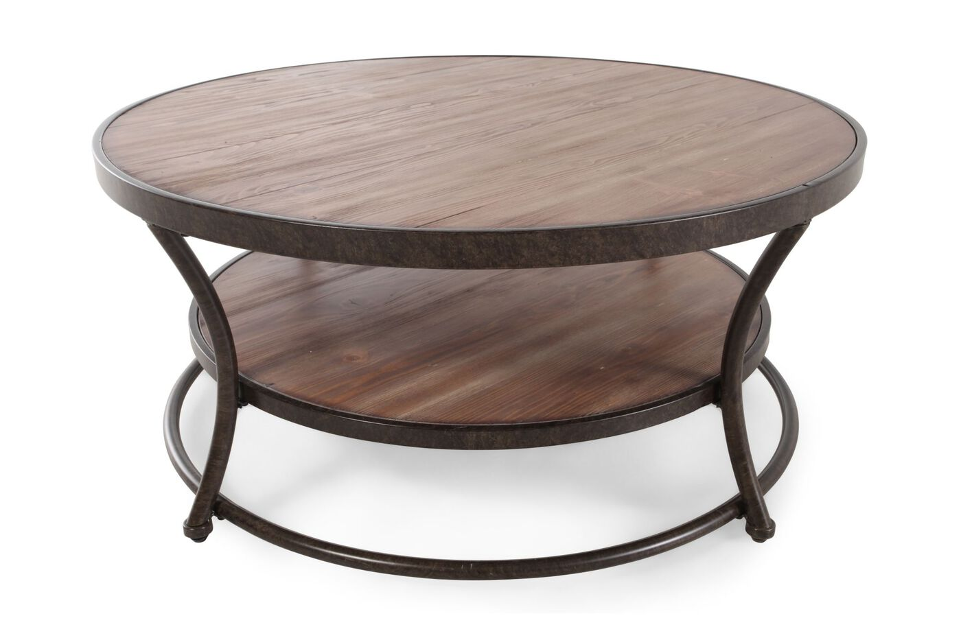 Ashley Nartina Round Cocktail Table Mathis Brothers Furniture