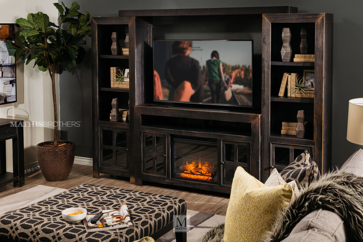 Ashley Gavelston Four Piece Wall Unit Mathis Brothers