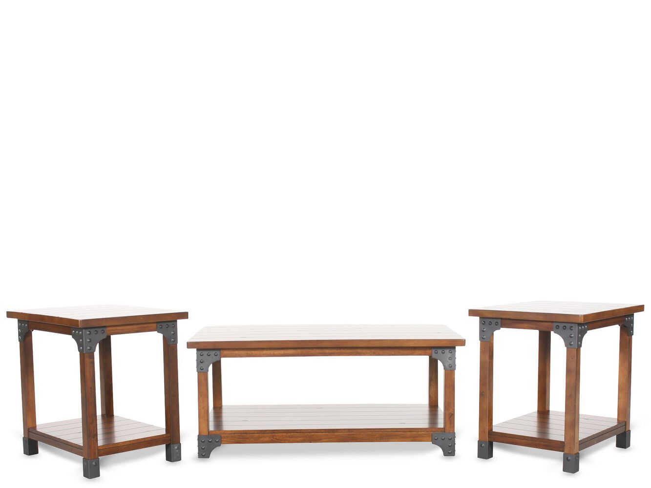 ashley coffee table set mathis brothers