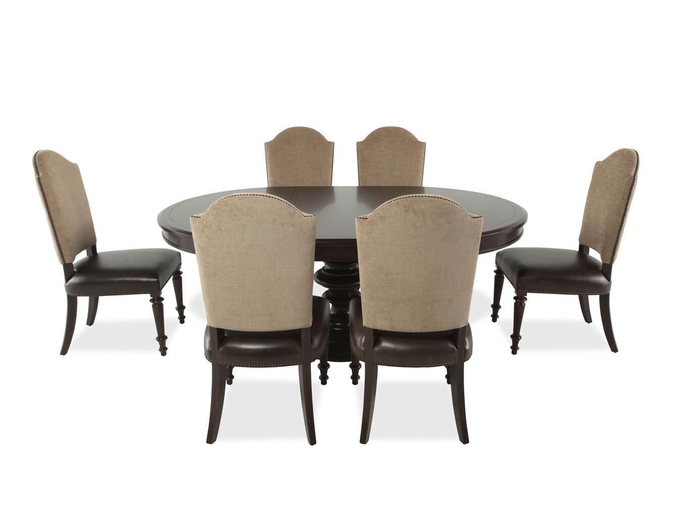 bernhardt pacific canyon brown seven piece dining set: seven piece dining set