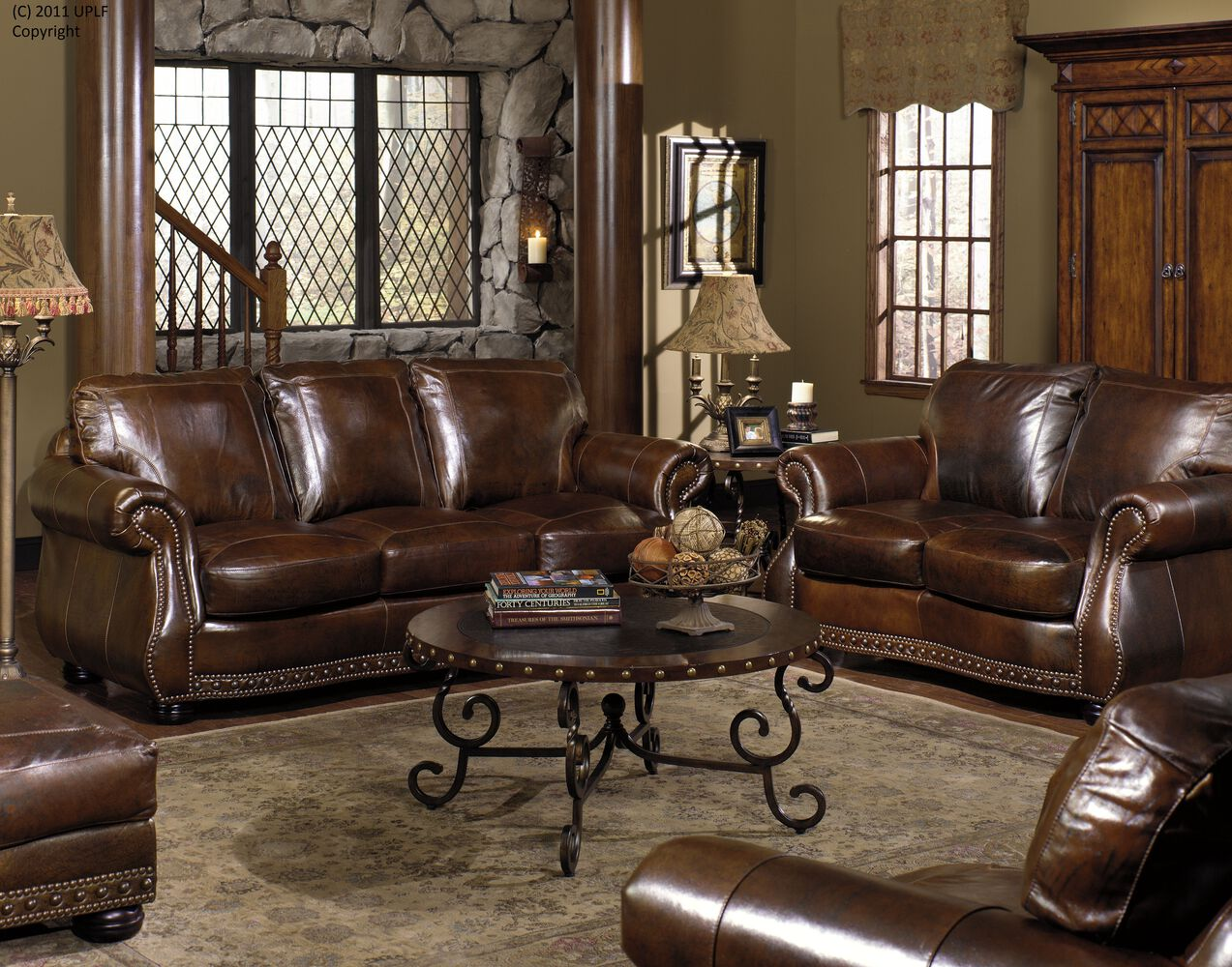 usa leather cowboy sofa mathis brothers furniture. Black Bedroom Furniture Sets. Home Design Ideas