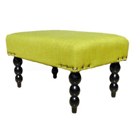 Picture of Lime Linen Charla Ottoman