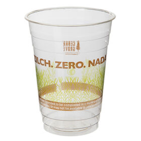 Picture of Zilchable Compost 16 oz Cold Cups - 15 Count