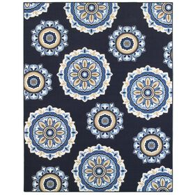 Picture of E172 MEDALLION NAVY 94X120